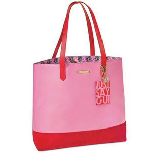 Juicy Couture Oui Tote Bag Red/Pink
